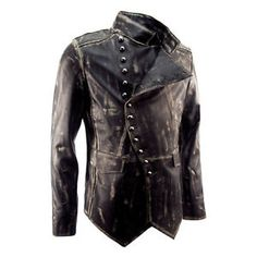 Steampunk Jacket Men | MENS-NEW-DESIGNER-STEAMPUNK-MILITARY-ROCK-DISTRESSED-MILITARY-LEATHER ...