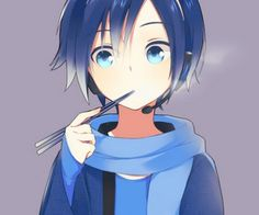 Image about anime in Kaito Shion by nyukaito on We Heart It Vocaloid Kaito, Kaito Shion, Cute Anime Boy, Anime Guys, Anime Style, Kawaii Anime, Anime Manga, Anime Art, Photo Manga