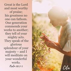 Inspiration For Everyday Psalm 145, Psalms, Immeasurably More, Bible Verses Quotes Inspirational, Lord And Savior, Praise And Worship, Meditation, Couple Photos, Art