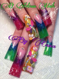 The nail art on these are Fab! Pink Acrylic Nails, Acrylic Nail Art, Toe Nail Art, Duck Flare Nails, Duck Nails, Winter Nail Designs, Simple Nail Designs, Nail Art Designs, Dragonfly Nail Art