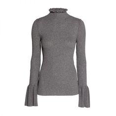 Ruffled Rib-Knit Sweater, H&M $50