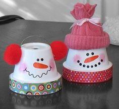 Christmas plantpot craft