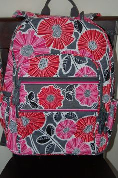 91621fe2d8 NEW WITH TAGS VERA BRADLEY CHEERY BLOSSOM BLOSSOMS CAMPUS BACKPACK