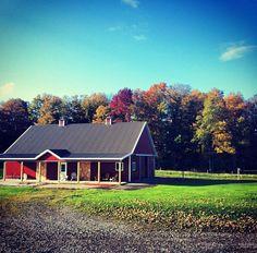 Perfect horse barn. #PhalenFarms