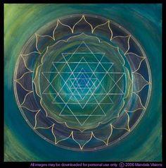 Sri Yantra: Hindu symbol for the bringing together of masculine and feminine. I interpret it as unity/ marriage.