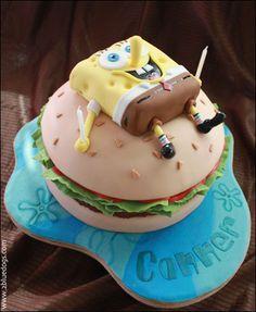 Spongebob & Krabby Patty Cake -  from Wee Bites http://www.bites4mazie.com