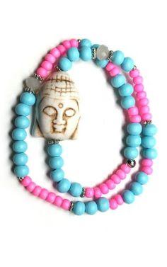 Buddha Armband pink / Yoga bracelet