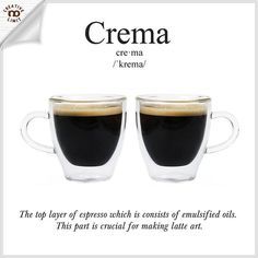 Crema is a little bit of a Holy Grail in the espresso world -- folks are talking about it all the time, searching for it, measuring their technique, equipment and coffee by it. But what is crema anyway? . . #creativenolimit101 your daily tips for coffee making, graphic arts, photography, and leather crafts. Follow us spazio_creativenolimit to get more useful tips! . . #dailytips #tips #infographic #basic #kopi #coffee #coffeebrewing #manualbrew #coffeetips #coffeebreak #crema #coffeebean…