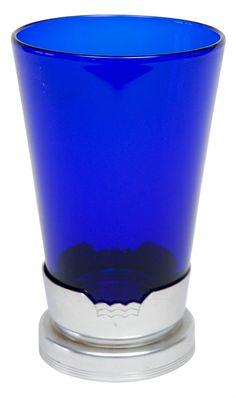 Blue Glass Vase in Kensington Stand #cobalt #blue #vase.