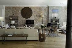 living room - new york - by Marie Burgos Design #industrial #vintage #interior #design