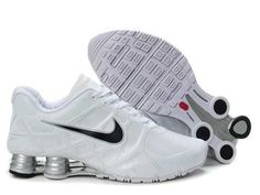 UK - Nike Air Shox Turbo 12 Mens Leather White Nike Shox Shoes, Running Shoes Nike, Adidas Shoes, Men's Shoes, All White Shoes, White Nike Shoes, Nike Air Max, Air Max 90, Air Max Sneakers