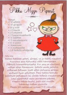 *collection - recipe card - Tracy Chen - Picasa Albums Web Little My Moomin, Scrapbook Recipe Book, Tove Jansson, Finnish Recipes, Baking With Kids, Old Recipes, Looks Yummy, Recipe Cards, No Bake Desserts