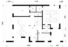 Rzut NA FX-26 CE Lany, Floor Plans, Diagram, House, Country, Rural Area, Haus, Homes, Floor Plan Drawing