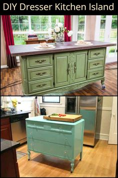 Create a DIY kitchen island