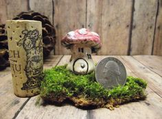 Miniature Raku Fired Red Mushroom House - Terrarium accessories - Handmade by Gypsy Raku de GypsyRaku en Etsy https://www.etsy.com/es/listing/122814973/miniature-raku-fired-red-mushroom-house