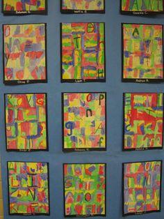 Zilker Elementary Art Class: Kinder Jasper Johns paintings