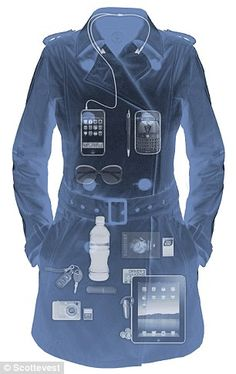 An iPad pocket, 18 compartments and a lip-balm pouch: The stylish £90 plane-friendly trench coat that means you will NEVER exceed carry-on luggage allowance again