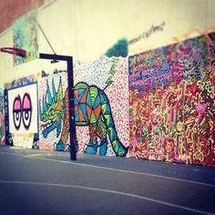 Cool Court Good Artwork. #NYC #Basketball