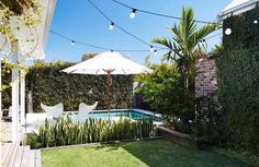Laid Back Byron Bay Beach House ~ Stace King Byron Bay Beach, Landscape Design, Garden Design, Porches, Small Pools, Magnolia Homes, Outdoor Areas, Beach Cottages, Beach House Decor
