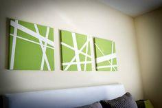 wohnzimmerwand Leinwandbilder selber gestalten diy