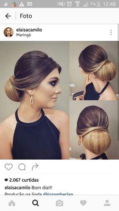 - Best New Hair Styles Elegant Hairstyles, Bun Hairstyles, Pretty Hairstyles, Wedding Hairstyles, Wedding Hair And Makeup, Bridal Hair, Hair Makeup, Braids For Black Hair, Big Hair
