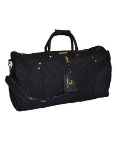 This 22'' Black Quilted Duffel Bag is perfect! #zulilyfinds
