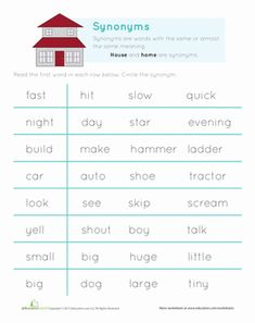 Printables Vocabulary Builder Worksheets synonym match worksheets for kindergarten columns and the ojays first grade comprehension vocabulary builder synonyms