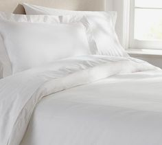 PB Organic 350-Thread-Count Duvet Cover & Sham - White #potterybarn