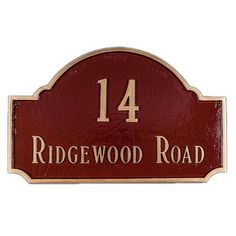 Montague Metal Products Fitzgerald Standard Address Plaque Finish: Antique Copper / Copper, Mounting: Wall