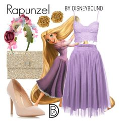 """""""Rapunzel"""" by leslieakay ❤ liked on Polyvore featuring Monsoon, Anya Hindmarch, Dorothy Perkins, Liberty, Prom, disney, disneybound and disneycharacter"""