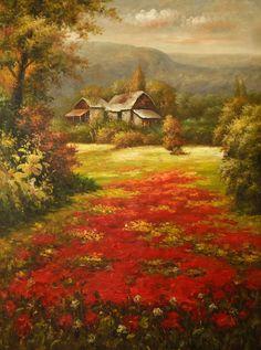 Peisaj maci Maci, Painting, Painting Art, Paintings, Painted Canvas, Drawings