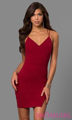 1bfd69e7b9a Image of short spandex party dress with multi-strap open back. Style  SY