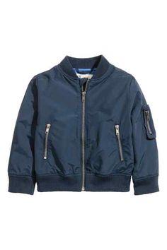 Boys Black Floral Quilted Bomber Jacket   Logos Bomber jackets