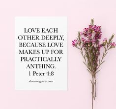 Love them deeply. Everyone carries with them a story of love, heartbreak and history. Everyone deserves our deep love, because love makes up for anything. Christian Faith, Christian Quotes, Christian Living, Christian Women, Bible Scriptures, Bible Quotes, Scripture Art, Love Deeply, Walk By Faith