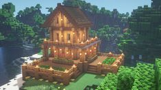 Minecraft Roof, Minecraft Mountain House, Minecraft Portal, Minecraft City Buildings, Minecraft Medieval, Cute Minecraft Houses, Minecraft House Designs, Minecraft Construction, Minecraft Architecture