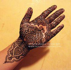 Traditional bridal Henna mehndi 2012 © NJ's Unique Henna Art | Flickr - Photo Sharing!