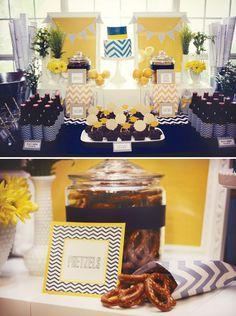 blue-yellow-chevron-dessert-table