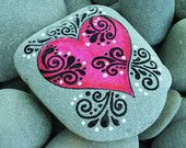 Casting A HeartWish / Painted Rock / Sandi Pike by LoveFromCapeCod