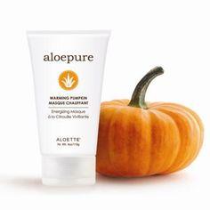 Pumpkin pie in a bottle and it exfoliates too! Love it. Pumpkin Hydrating Masque #aloettefall