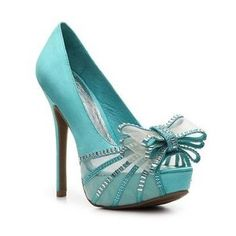 Tiffany blue heels.