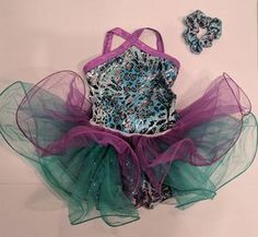 Beautiful teal and purple costume that can be used for tap, jazz or acro dance. Acro Dance, Tap Costumes, Full Body Suit, Jazz, Teal, Sparkle, Costume Ideas, Jazz Music, Glow