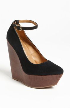 Jeffrey Campbell 'Pizan' Pump available at #Nordstrom $168...but I have a similar pair....#sigh