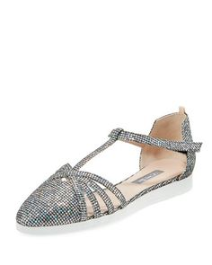 21c3a391956ed Holographic Fabric, Sarah Jessica Parker, Shoe Collection, Ballet Flats,  Wedding Shoes,