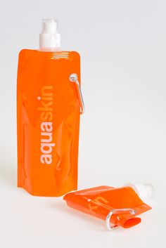 Reusable water bottle in 4 colours, eco-friendly, freezable & foldable; dishwasher safe - can be attached to belts & bags.  Great for school - offer on Groupon today. #school #nrdcbiogems