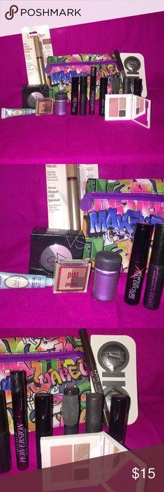 Eye Makeup Bundle Includes:   -Clinique morning java starlight starbright smoldering plum (1) -VS eyeshadow wildcard (1) -Smashbox xrated mascara (1)  -Mac zoom lash (1) -I.T. Cosmetics mascara (1) -Bobbi Brown Mascara (1) -UD Perversion Mascara (1) -Clinique high impact mascara (1) -Smashbox full exposure Mascara (1) -Pixi in shades of brow (1) -Too Faced shadow insurance (1) -MAC pigment violet  -L'Oréal lash out (1) -NYX eyebrow marker in deep (1) -Urban Decay primer original (1) -Urban…