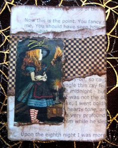 Alice in Wonderland ATC on craftster, made by H00lie