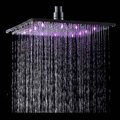 Hot Sale Wholesale And Retail LED Square Rain Shower Head Wall Ceiling Mounted Top Over-head Shower Sprayer Brass Shower Head, Shower Heads, Modern Shower, Rain Shower, Led, Bathroom Fixtures, Modern Wall, Ceiling, Bath