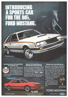 Ford Mustang 3 Door Sports Car 1979 Ad Picture
