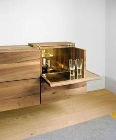 Wooden bar cabinet ARAQ By design Philipp Mainzer Design Furniture, Cabinet Furniture, Home Furniture, Bar Countertops, Espace Design, Home And Deco, Furniture Inspiration, Bars For Home, Interiores Design