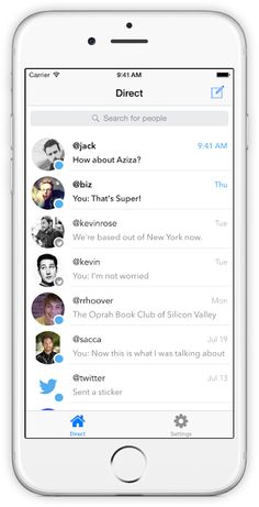 Mensajes Directos para Twitter – iOS